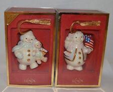 (2) Lenox Snowman Ornaments