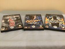 X3 Nintendo GameCube 007 games-Agent Under Fire/Nightfire/007