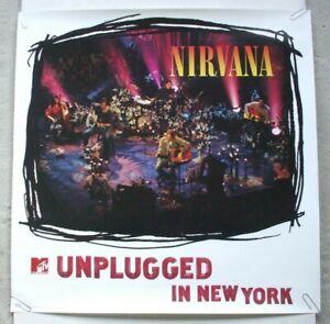 Nirvana 1994 promo poster MTV Unplugged In New York Geffen Records Kurt Cobain