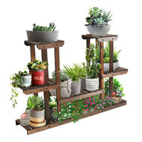 Wooden Plant Stands 4 Tier Multifunctional Plant Flower Stand Rack Storage