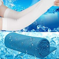 Instant Cooling Towel ICE Cold Cool Golf Cycling Gym Sport Outdoor Double Layers