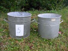 2 alte Zinkkübel Zinktopf - Übertopf runde Zinkwanne Pflanzkübel shabby, Garten