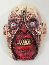 Zipper Zombie Latex Face Mask Halloween Fancy Dress Accessory P9399