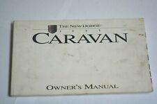 1995 THE NEW DODGE CARAVAN OWNERS MANUAL BOOK