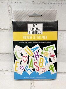 My Cinema Lightbox Mini Vibrant Letter Pack New In Box