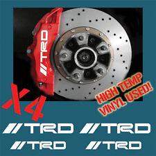 HIGH TEMP TRD TOYOTA BRAKE CALIPER DECAL STICKER SET RALLY DRIFT JDM MOTORSPORT