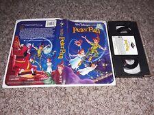 Walt Disney Peter Pan Black Diamond Case And Cassette Original - Sticker Label
