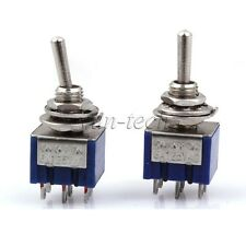 2pcs 3-Way Design AC 125V 6A Double Pole Three Throw On/OFF/On Toggle Switch