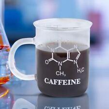 Taza De Química ciencia molécula de cafeína Café De Vidrio Estilo Vaso Medidor