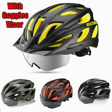 ROCKBROS Bicycle Helmet Integrally EPS Cycling Helmet w/ Polarized Goggles Visor