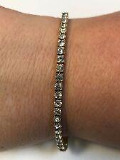 "Beautiful Gold Tone Clear Stone Joan Rivers Tennis Bracelet 7.5"""