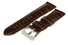 24MM Brown Leather Strap Stitched - High Quality - 119998