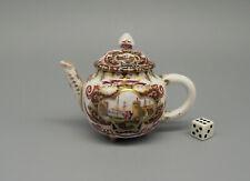Rare Antique Helena Wolfsohn Dresden Miniature Teapot Augustus Rex Mark