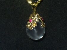 Pools Of Light Rock Crystal Ruby Gold Filled Necklace Pendant Quartz Crystal