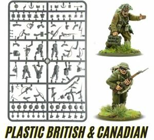 BOLT ACTION Grappe Infanterie UK & Canada (1943-1945) Figurines 28mm plastique