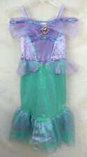 Disney Store Ariel Costume Dress Fishtail Cameo Sparkle Little Mermaid Child 5-6