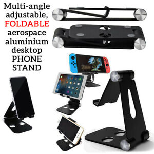 DOUBLE Adjustable Foldable Portable Phone Holder Swivel STAND For SAMSUNG IPHONE