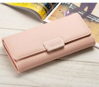 Female Card Purse Women's Wallets Long Clamps Cash Clip Billfold Ladies Handbags