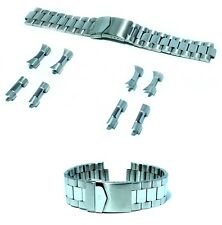 Cinturino per olorogio oyster acciaio inox ansa curva dritta 22-24mm deployante