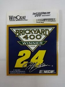 1998 #24 Jeff Gordon Brickyard 400 Winner Collector Decal Hendrick