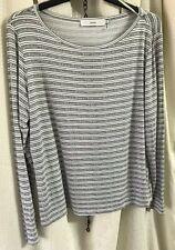 John Lewis Striped Long Sleeve Ladies Top Sz 16