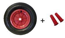 "RED 4.80 / 4.00 - 8  ( 16"" )  WHEELBARROW WHEEL TYRE INNER TUBE, WITH 30MM GRIPS"