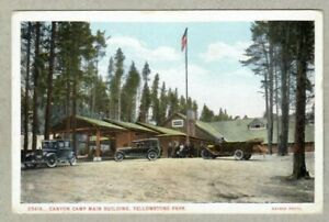 Canyon Camp Main Building, Yellowstone Park, Haynes Photo, 1920s Postcard