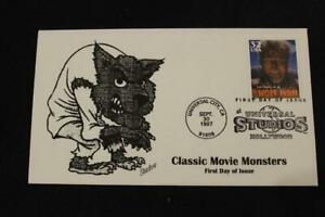 1ST DAY ISSUE 1997 CLASSIC MOVIE MONSTERS THE WOLF MAN FDC BY SHADOW (7153)