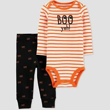 3M Just One You Carter's Boo Yah! Halloween 2 piece Bodysuit Outfit