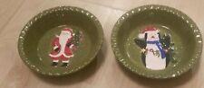 Lot of 2 Gibson Debi Hron 2009 Christmas Holiday bowls snowman penguin