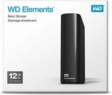 Western Digital WD Elements 12TB,External,Desktop Hard Drive(WDBWLG0120HBKNESN)