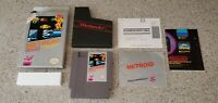 Metroid Nintendo NES Game Samus Complete CIB w/ Box Poster & Manual Lot TESTED!!
