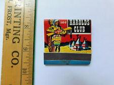 Old Harolds Club Matchbook Unused
