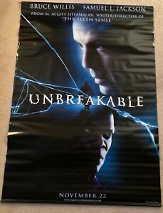 UNBREAKABLE Theatrical Banner BRUCE WILLIS & SAMUEL L. JACKSON