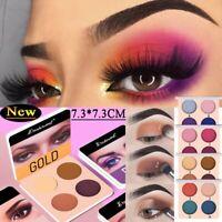 Beauty 4Colors Shimmer Matte Eyeshadow Powder Palette Makeup Pigment Eye Shadow