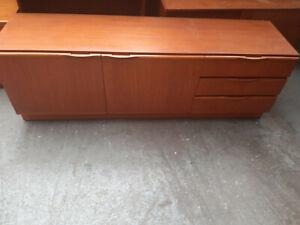 Vintage retro Mid Century teak wood sideboard tv record cabinet 60s 70s Mcintosh
