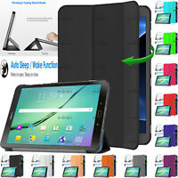 "Leather Magnetic Smart Case Cover For Samsung Galaxy Tab S2 9.7"" SM-T815 SM-T810"