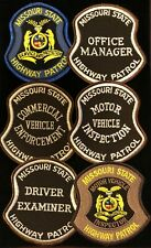 Missouri MO State Police Highway Patrol Patch SPECIAL UNITS - SET OF 6 - Grp3