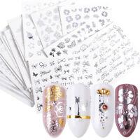 glitzer - nail art aufkleber maniküre - tipps blume - katze wasser übertragen.