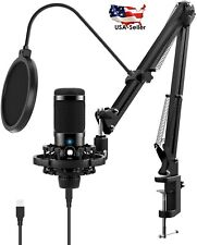 Professional Studio Recording Condenser Microphone kit Podcast Broadcast w/Stand