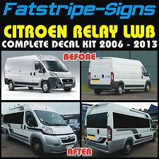 CITROEN Relay L3 LWB Autocaravana GRÁFICOS PEGATINAS DE VINILO CALCOMANÍAS Rayas camper van