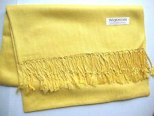 NEW Pashmina Fall Spring Scarf Scarves Silk Yellow Solid Shawl Wrap Range Soft