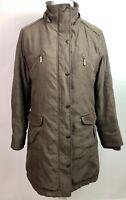 Per Una Brown Parka Style Jacket Size Medium Approx Size 12 Coat