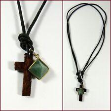 Religiöse Unisex Modeschmuck-Halsketten & -Anhänger aus Leder