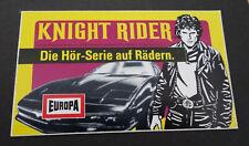 Aufkleber EUROPA Knight Rider David Hasselhoff Hörspiel-Cassetten 1982 Sticker 5