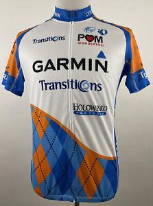 Pearl Izumi Garmin Transitions Full Zip Team Cycling Jersey Men's Size XL