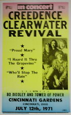 Creedence Clearwater Revival Concert Poster 1971 w/ Bo Diddley & Tower of Power