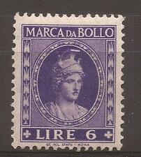 1953-1954 REPUBBLICA MARCA DA L. 6 DEA ROMA TESTA PICCOLA NUOVA MH* - PERFETTA