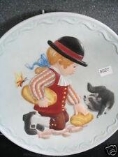 Fm 1982 Feeding The Raccoon Debbie Jarrett Early Amer Boy Butterfly Ltd Ed Plate