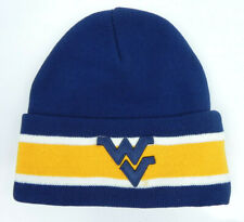 WEST VIRGINIA MOUNTAINEERS STRIPED CUFFED NCAA SNOW KNIT BEANIE SKI CAP HAT NEW!